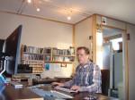 Martin Claassens in de studio